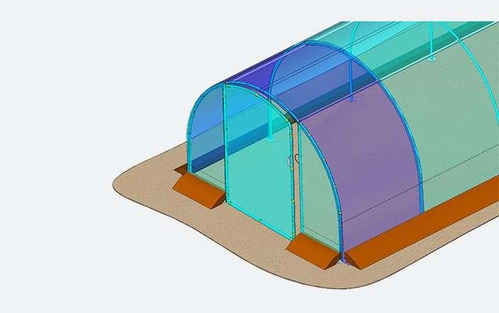 Module et porte additionnelle pour serre de jardin
